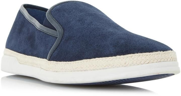 Dune London BENJAMIN - NAVY Espadrille Detail Slip On Shoe