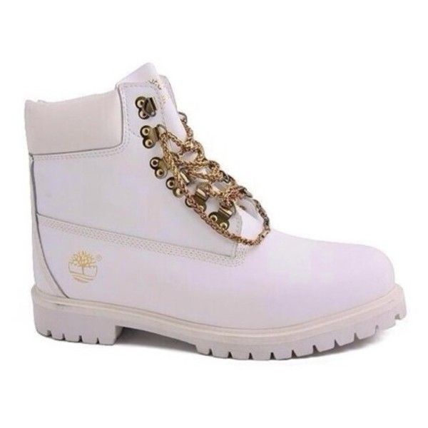 timberland blanche et or