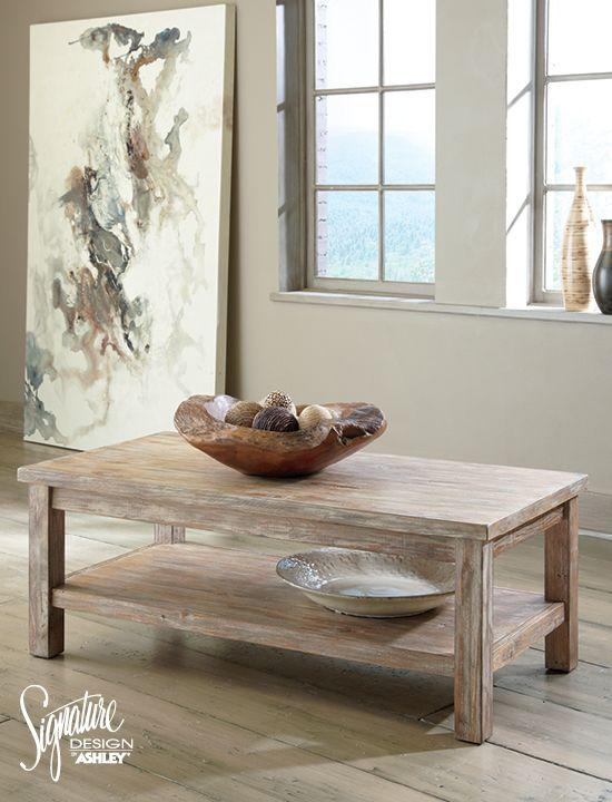Vennilux Rectangular Cocktail Table - Ashley Furniture