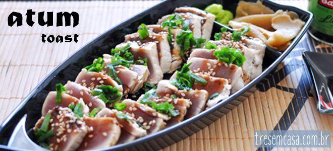como fazer sashimi de atum grelhado