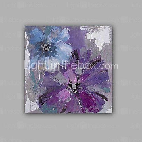 Pintada a mano Abstracto / Floral/Botánico Pinturas de óleo,Modern / Clásico Un Panel Lienzos Pintura al óleo pintada a colgar For 2017 - $1104.16