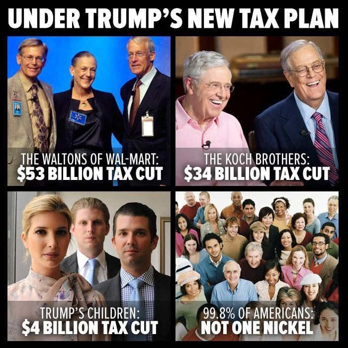 Only an idiot would vote Republican. Trump taxes, Trump