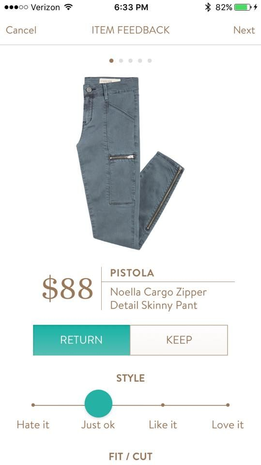 Pistola Noella Cargo Zipper Detail Skinny Pant - in grey!