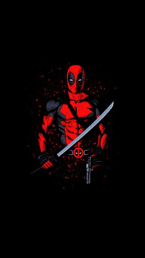 Deadpool with Sword iPhone Wallpaper - iPhone Wallpapers