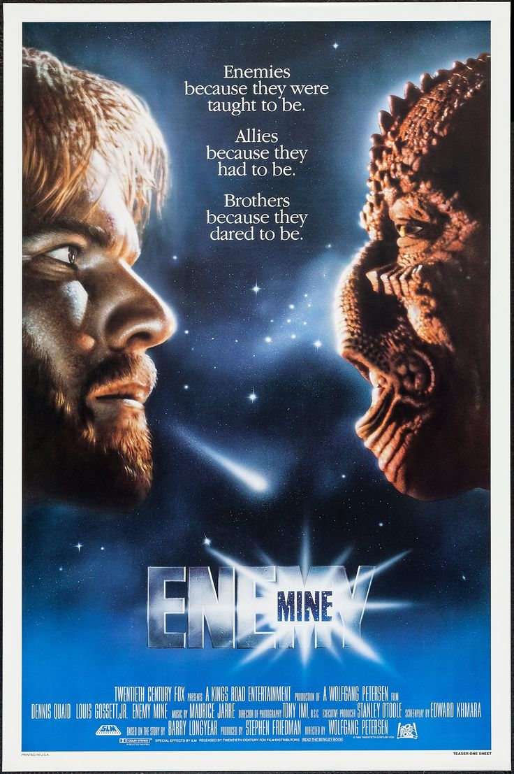 Enemy Mine (1985) Stars: Dennis Quaid, Louis Gossett Jr., Brion James, Richard Marcus ~ Director: Wolfgang Petersen