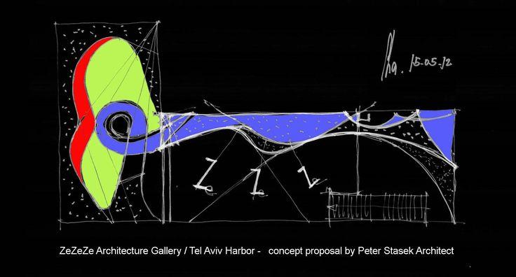 ZeZeZe Architecture Gallery-Tel Aviv Harbor by Peter Stasek Architect