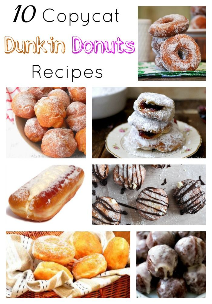 10 Copycat Dunkin Donuts Recipes. If you love Dunkin Donuts you will want to check out these amazing recipes! #DunkinDonuts (scheduled via http://www.tailwindapp.com?utm_source=pinterest&utm_medium=twpin&utm_content=post277319&utm_campaign=scheduler_attribution)