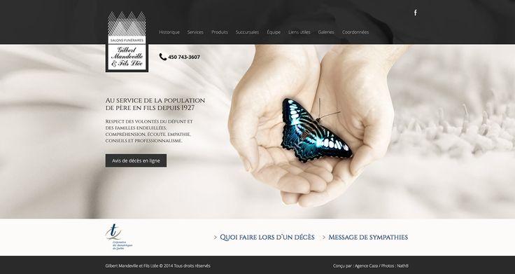 SALONS FUNÉRAIRES GILBERT MANDEVILLE & FILS | Refléter le respect et l'empathie, voici le mandat que l'on s'est donné lors de la conception de ce site. Une véritable source d'information et de soutien, sous une présentation digne de cette entreprise familiale appréciée depuis longtemps. | www.salonsmandeville.com