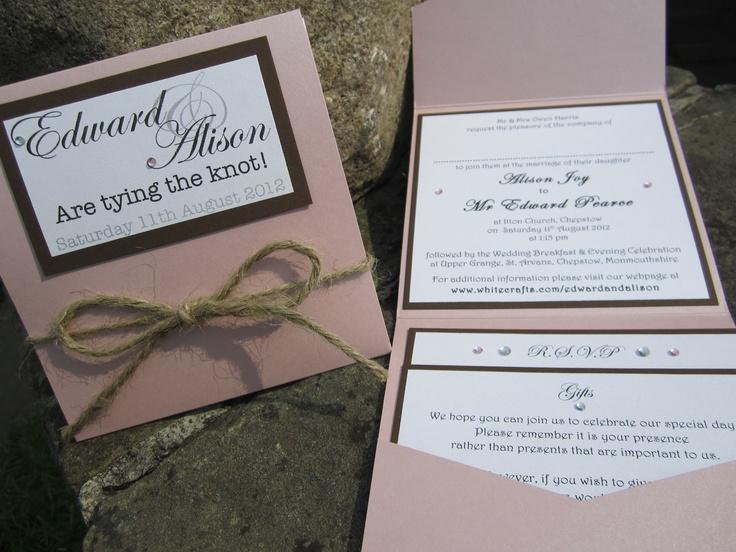 Tie-the-Knot pocket wedding invitation