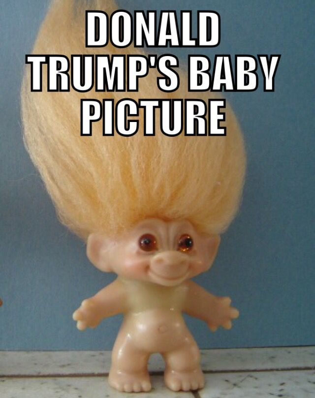 Donald Trump's baby picture.