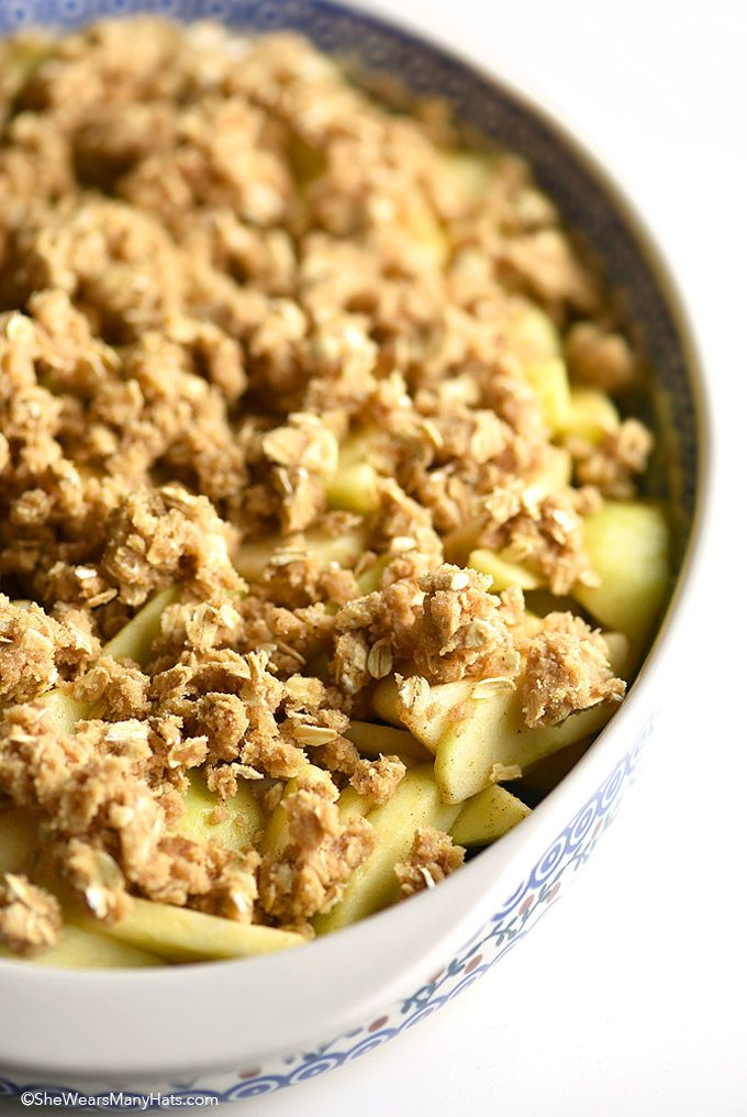 Homemade Apple Crisp Recipe shewearsmanyhats.com