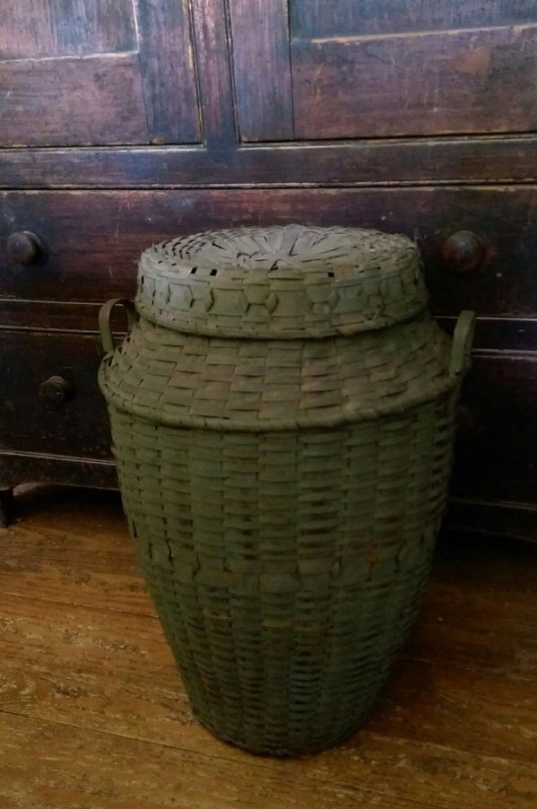 Native American Feather Basket Antique Baskets American