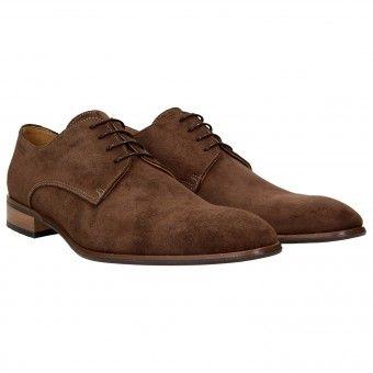 ZWEIGUT® smuck #251 Business Schuhe Herren Derby Schnürer Veloursleder Schnürhalbschuhe