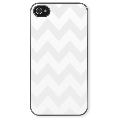iPhone 4/4S Light grey chevron pattern. Чехол для iPhone 4/4S Светло-серый зигзаг (шеврон). Light grey chevron pattern.