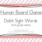 Human Game Board - Dolch Sight Words - Third Grade
