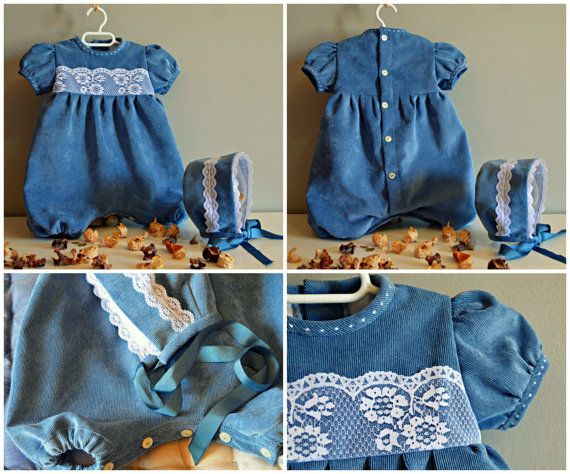 Yedra. NB to 2T.Baby boy.ROMPER.Cotton por Moniquesthingsshop