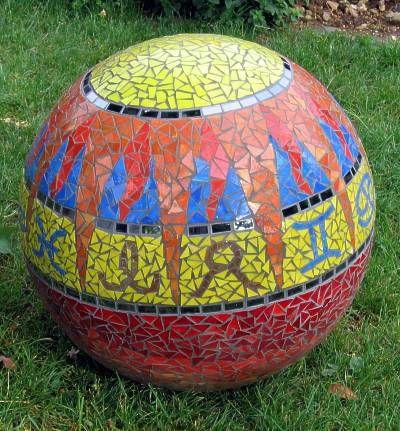 Boule décorative en mosaïque