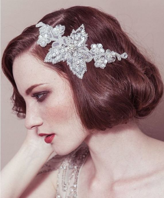 Vintage bridal hair accessory - 14 Great gatsby inspired hair pieces #vintage #wedding #hair