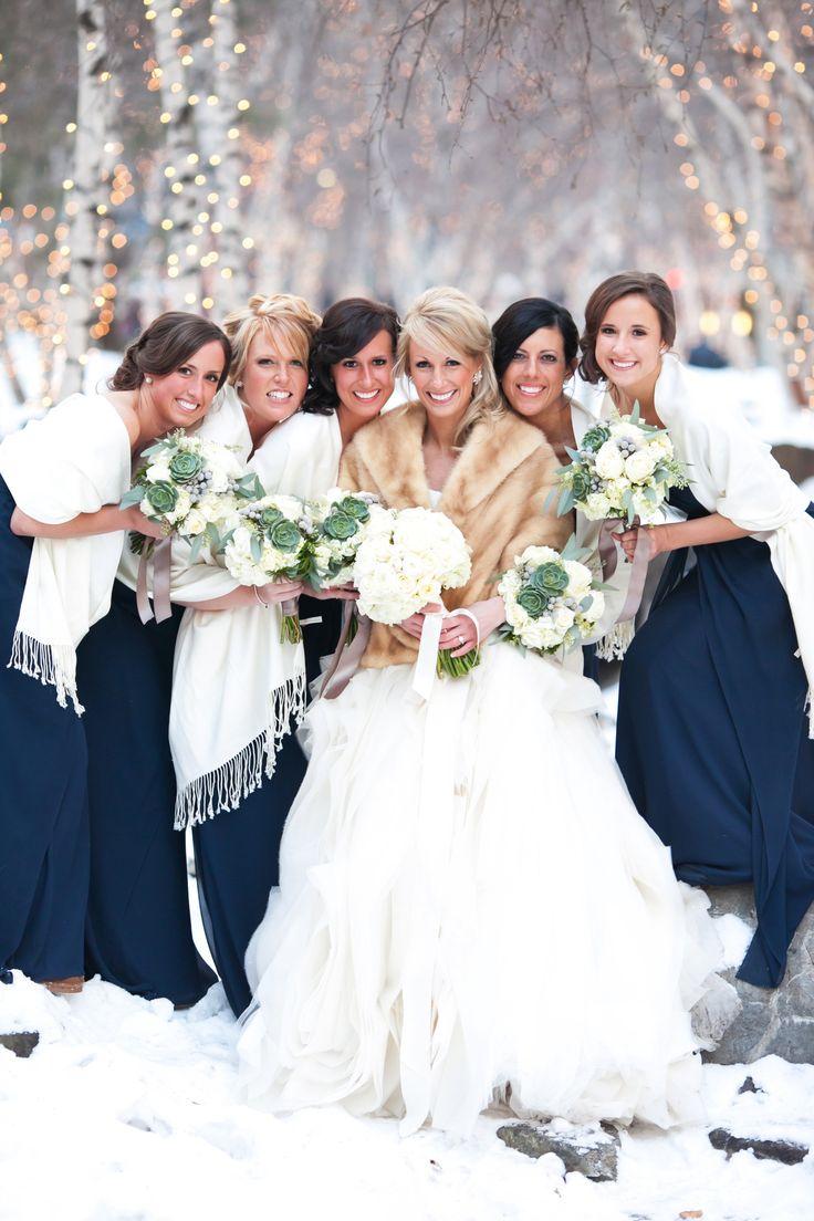 Winter Bridesmaids Style