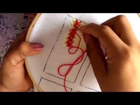 29.- bordado fantasía puntada para falda de princesa - YouTube