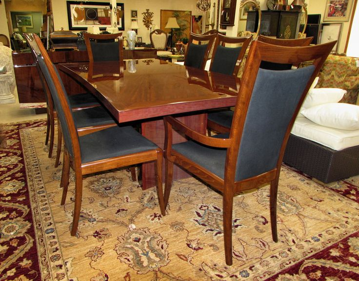 Excelsior Designs Bellagio Rosewood Dining Table Plus 8