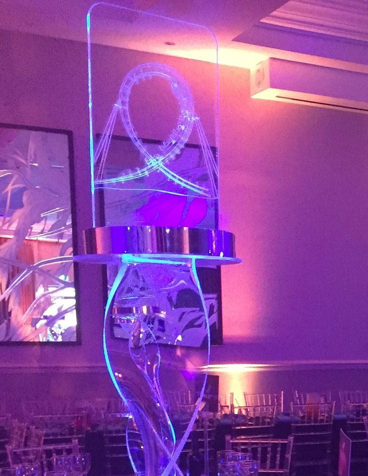 Twirly rollercoaster LED centrepieces