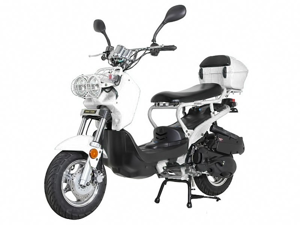NEW Sunny Powersports MC-D150L WHITE Gas Ruckus 150cc Moped Scooter w/ Trunk , $1399