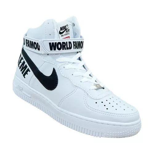 Supreme Nike Air Force - Sneakers Calçado Tênis Bota Botinha - R  89 ... 37bf0b0049c02