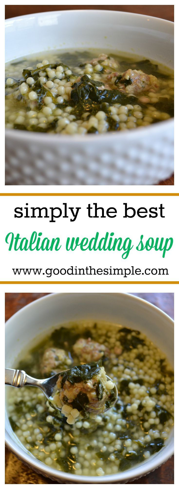 When my daughter's favorite store-bought Italian Wedding Soup was discontinued, I promised her I'd make an exact replica myself. This recipe is her new favorite!