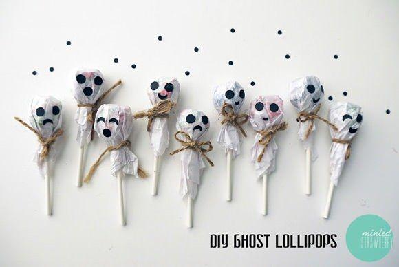 Kids Craft - Ghost Lollipops for Halloween