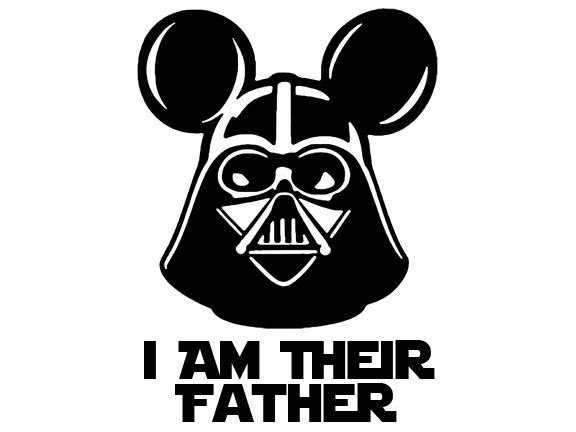 Disney Star Wars Weekend Darth Vader Mickey Mouse Dad Father Disney World Star Wars Iron On Transfer DIY Custom Decal Personalized Printable by Pennyring on Etsy https://www.etsy.com/listing/230146279/disney-star-wars-weekend-darth-vader