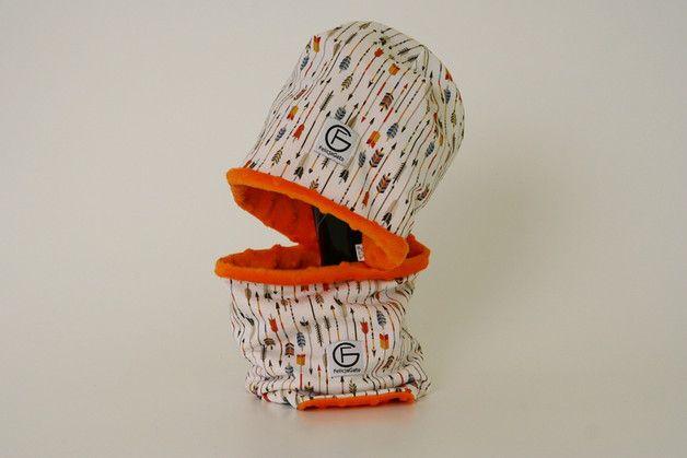 Zimowy komplet czapka i komin - FelicjaGato - Czapki dla dzieci