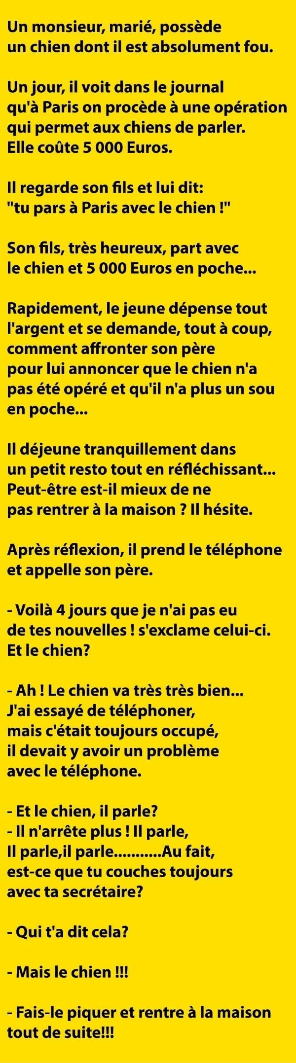blague courte operation