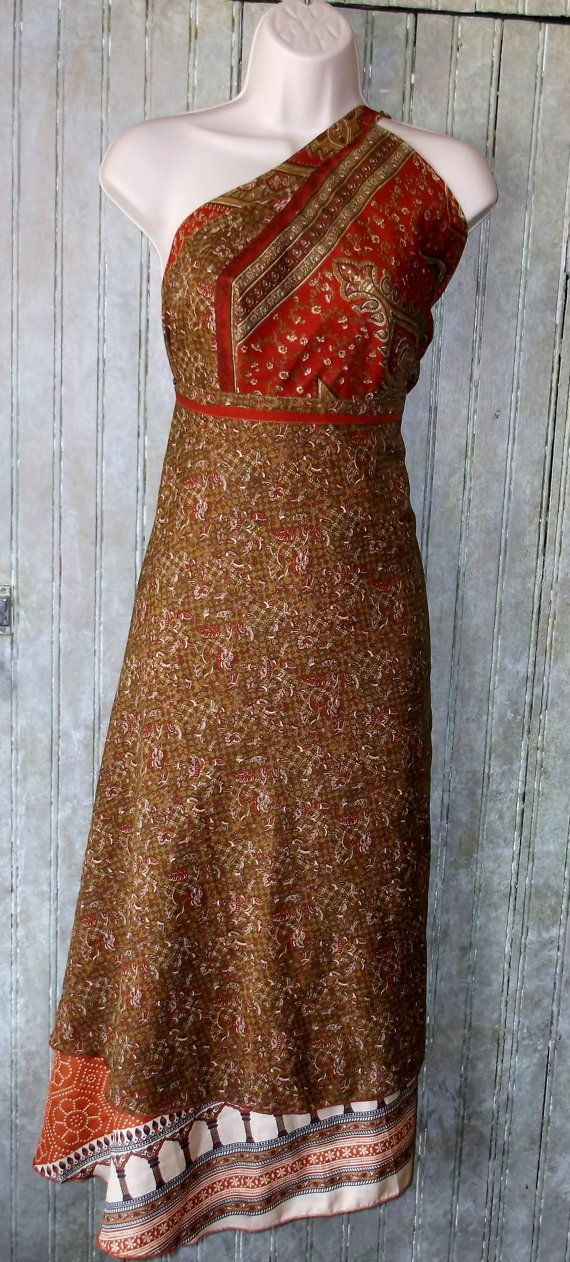 double layer silk wrap skirt made from by KittyBritchesBoutiqu, $30.00