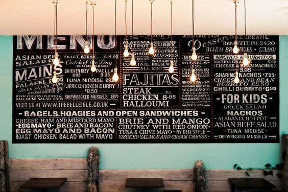Image result for cafe food menu wall