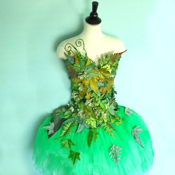 Fairy Costume  - Woodland Fairy corset and skirt- Earth Faerie - Mother Nature - USA dress size 6/8