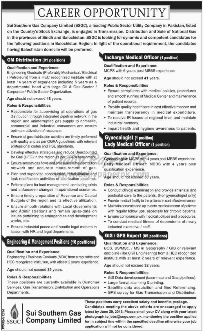Career Opportunity 2016 in Sui Southern Gas Company Limited SSGC Balochistan Region For #jobs detail and how to apply:  http://www.dailypaperpk.com/jobs/250816/career-opportunity-2016-sui-southern-gas-company-limited-ssgc-balochistan-region
