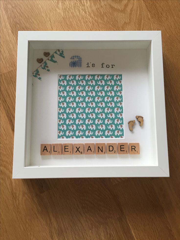 A is for Alexander - personalised scrabble memory frame - £15.00 plus P&P