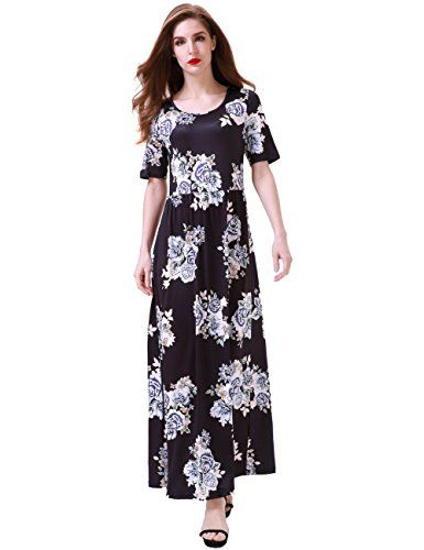 New Aphratti Women's Bohemian Short Sleeve Floral Print Maxi Long Beach Dress online. Find great deals on TiaoBug Dresses from top store. Sku xhdx34054tpca70287