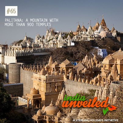 Palitana, a town in Gujarat founded in 1194, is located on a mountain that has more than 900 temples. For this reason, Palitana has been nicknamed as the 'City of Temples'. From the foot of the hill to the top, there are more than 3,800 stone steps cut into the rocks to facilitate climbing. Most of the temples are exquisitely carved in marble.  To download and read more India Unveiled stories, visit www.indiaunveiled.org