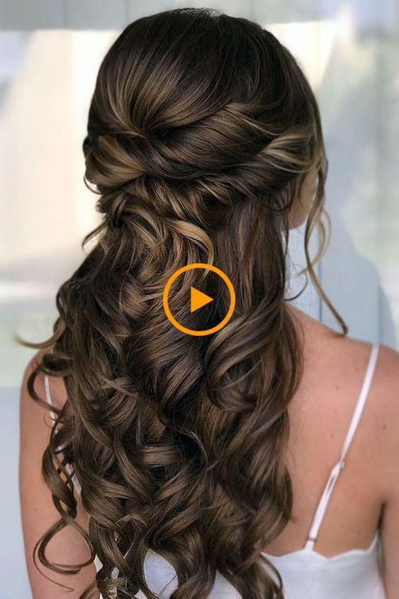 Gorgeous wedding hairstyle on long dark brown hair - Bridesmaid hair - ... #weddingdresses #weddingmakeup #weddinghairstyles