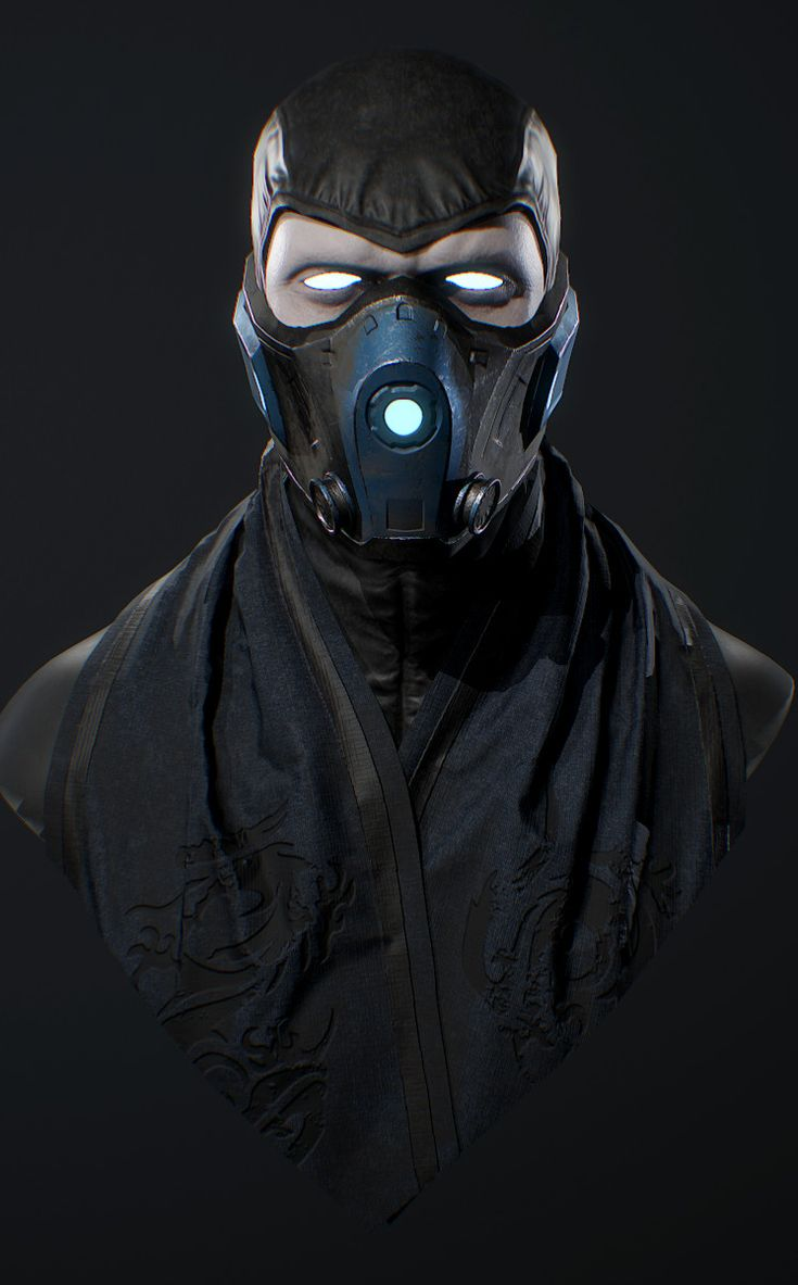 Sub-Zero Bust, Angel Axiotis on ArtStation at https://www.artstation.com/artwork/PBKrB