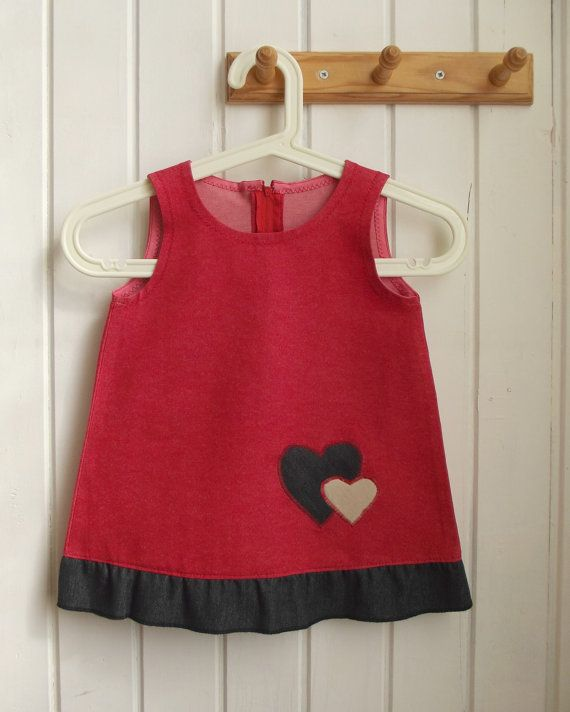 SALE    Free Shipping  red sarafan dress   hearts   by ninaByou
