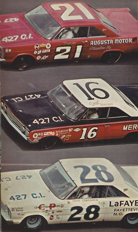 65 Daytona 500. Golden Boy Fred Lorenzen in the  Holman Moody #28 was the winner  Hot Rod Magazine May 1965