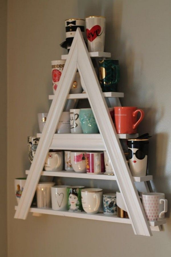 20 Fun And Practical Diy Coffee Mugs Storage Ideas For Your Kitchen Pinterest Mug Rack