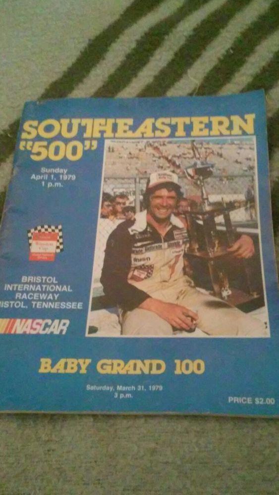 Vintage Nascar Program 1979 Bristol Raceway Southeastern 500