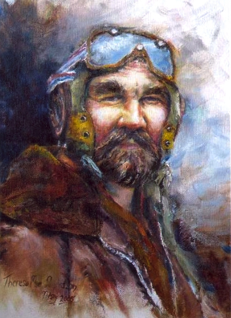 Bush Pilot painted by Theresa Mae Donaldson