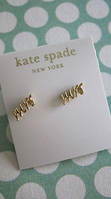"""Bride gift idea - Kate Spade """"Mrs"""" earrings {Courtesy of API Shop Style}"""