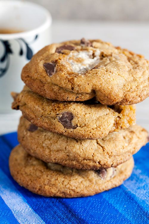 Healthy Whole Wheat S'mores Cookies with Coconut Oil | healthy ...