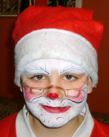 christmas face paint - Google Search